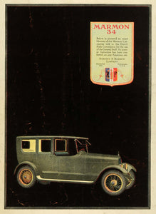 1919 Ad Marmon 34 Nordyke Automobile Indianapolis Vehicle General Staff SCA3