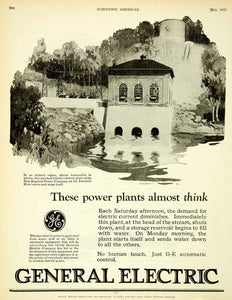 1925 Ad General Electric Hydroelectric Plant Automatic New England SCA4