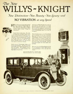 1925 Ad Willys Knight Overland Cars Automobiles Sedan Luxury Lanchester SCA4