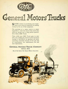 1921 Ad General Motors Trucks Pontiac Michigan GMC Automobiles Cars SCA4