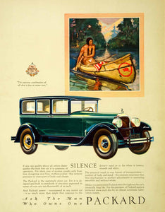 1927 Ad Antique Enclosed Packard Automobile Car Native American Indian SCA5 - Period Paper
