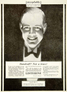 1928 Ad Listerine Antiseptic Lambert Pharmacal St Louis Medical Toothpaste SCA6