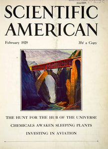 1929 Cover Scientific American Aviation Bridge Chemicals Hub Universe SCA7
