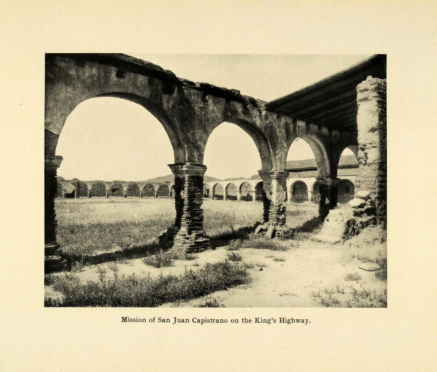 1906 Print Spanish Mission San Juan Capistrano Architecture Kings Highway SCP1