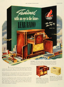 1946 Ad Lear Radio Record Grand Music Box Tilt Front - ORIGINAL ADVERTISING SEP3