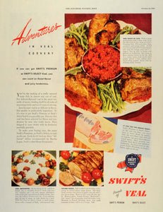 1946 Ad Swift's Veal Meal Dinner Chops Roast Cookery - ORIGINAL ADVERTISING SEP3