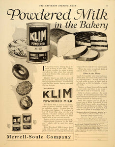 1919 Ad Klim Powdered Milk Merrell Soule Syracuse Bake - ORIGINAL SEP4