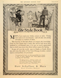 1912 Ad Style Book Edward Penfield Hart Schaffner Marx - ORIGINAL SEP4