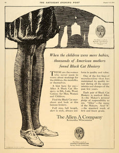 1921 Ad Black Cat Hosiery Allen A Company Kenosha WI - ORIGINAL ADVERTISING SEP4