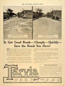 1920 Ad Tarvia Pavement Milwaukee Barrett Fourth Avenue - ORIGINAL SEP4