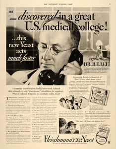 1934 Ad Fleischmann's Yeast Medical Doctor Kleissel - ORIGINAL ADVERTISING SEP4