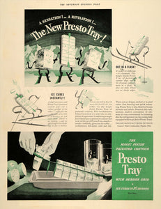 1937 Ad Presto Tray Ice Cube Rubber General Motors - ORIGINAL ADVERTISING SEP4