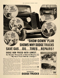 1934 Ad Dodge Trucks Commercial Panel Chrysler Motors - ORIGINAL SEP4