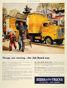 1946 Ad Dodge Truck Yellow John Ivory Storage Chrysler - ORIGINAL SEP4