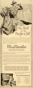 1917 Ad Baldwin Manualo Piano WWI Soldier Bugle Bugler - ORIGINAL SEP4