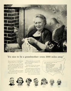 1956 Ad Mrs C H Holtermann Grandmother Staten Island Bell Telephone System SEP5