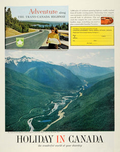 1964 Ad Trans Canada Highway Vacation Rogers Pass Revelstoke British SEP5