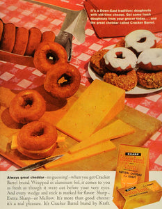 1961 Ad Down East Tradition Doughnuts with Cheese Cracker Barrel Cheddar SEP5