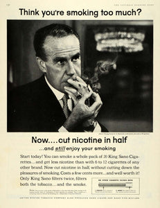 1959 Ad King Sano Cigarette Filter Nicotine Tobacco Chain Smoking John S SEP5