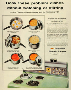 1955 Ad Frigidaire Electric Ranges Appliances Cooking Meals Cook-Master SEP6