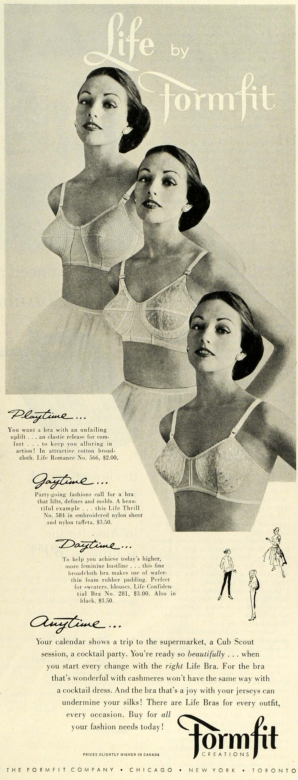 1955 Ad Formfit Life Bras Undergarments Housewife Underwear Cub Scouts SEP6