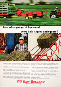 1966 Ad New Holland Bale Machine Sperry Rand Boy Hayliner 268 Baler Farming SF1