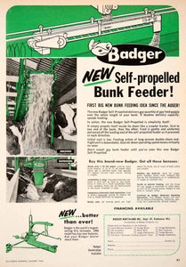 1966 Ad Badger Northland Kaukauna Wisconsin Silo Unloader Bunk Feeder Cow SF1