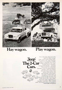 1969 Ad Jeep Kaiser Truck Automobile Gladiator Camper Hay Wagon Vehicle SF1 - Period Paper