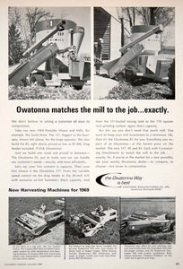 1969 Ad Owatonna Manufacturing Minnesota 700 Mixer Windrower 350 Farming SF1