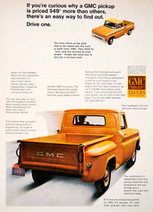 1966 Ad GMC Trucks Magnum Cab Pickup Automobile Transportation Engine SF1