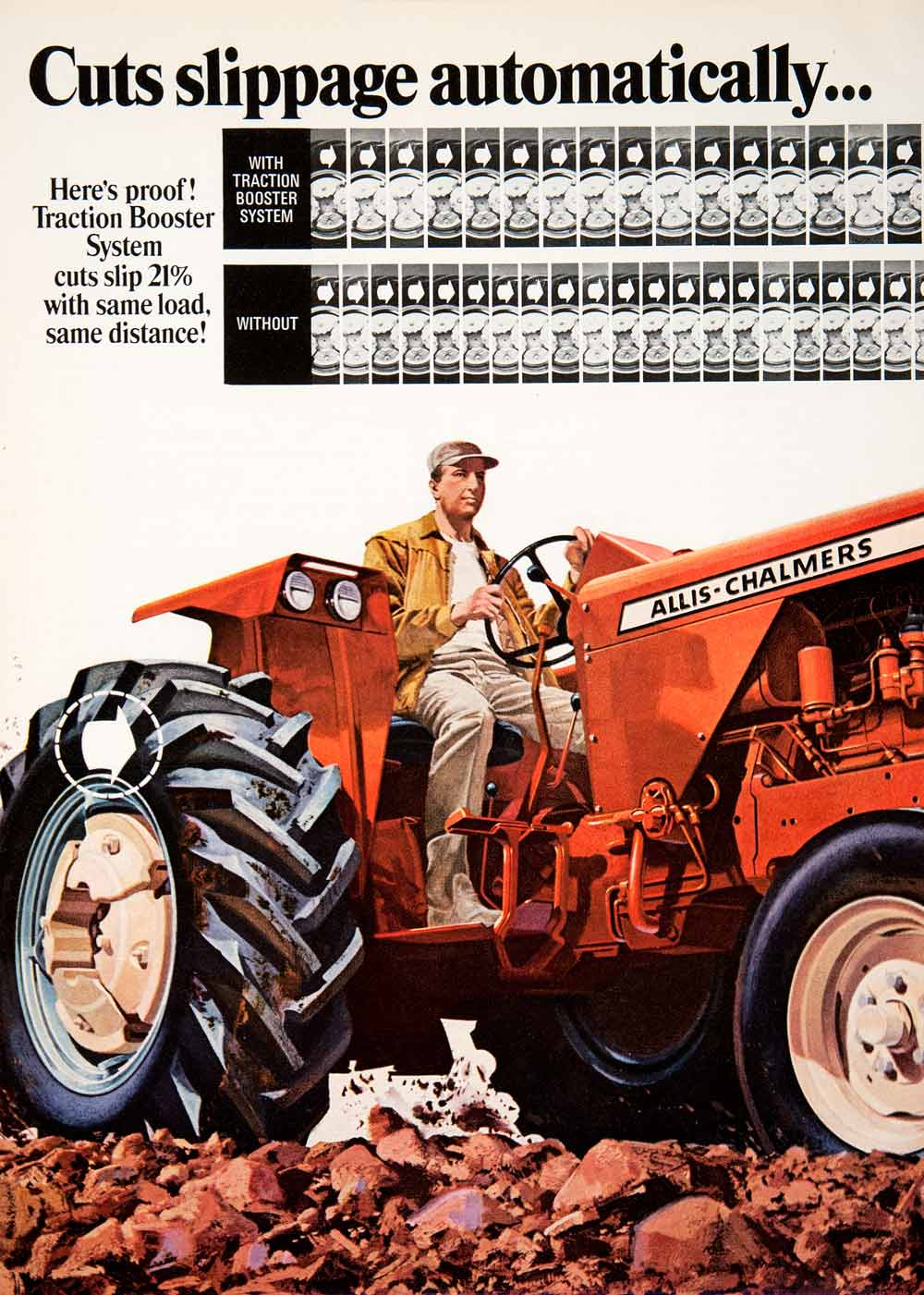 1969 Ad Allis Chalmers Traction Booster Tractor Hitch Agriculture Farm SF2