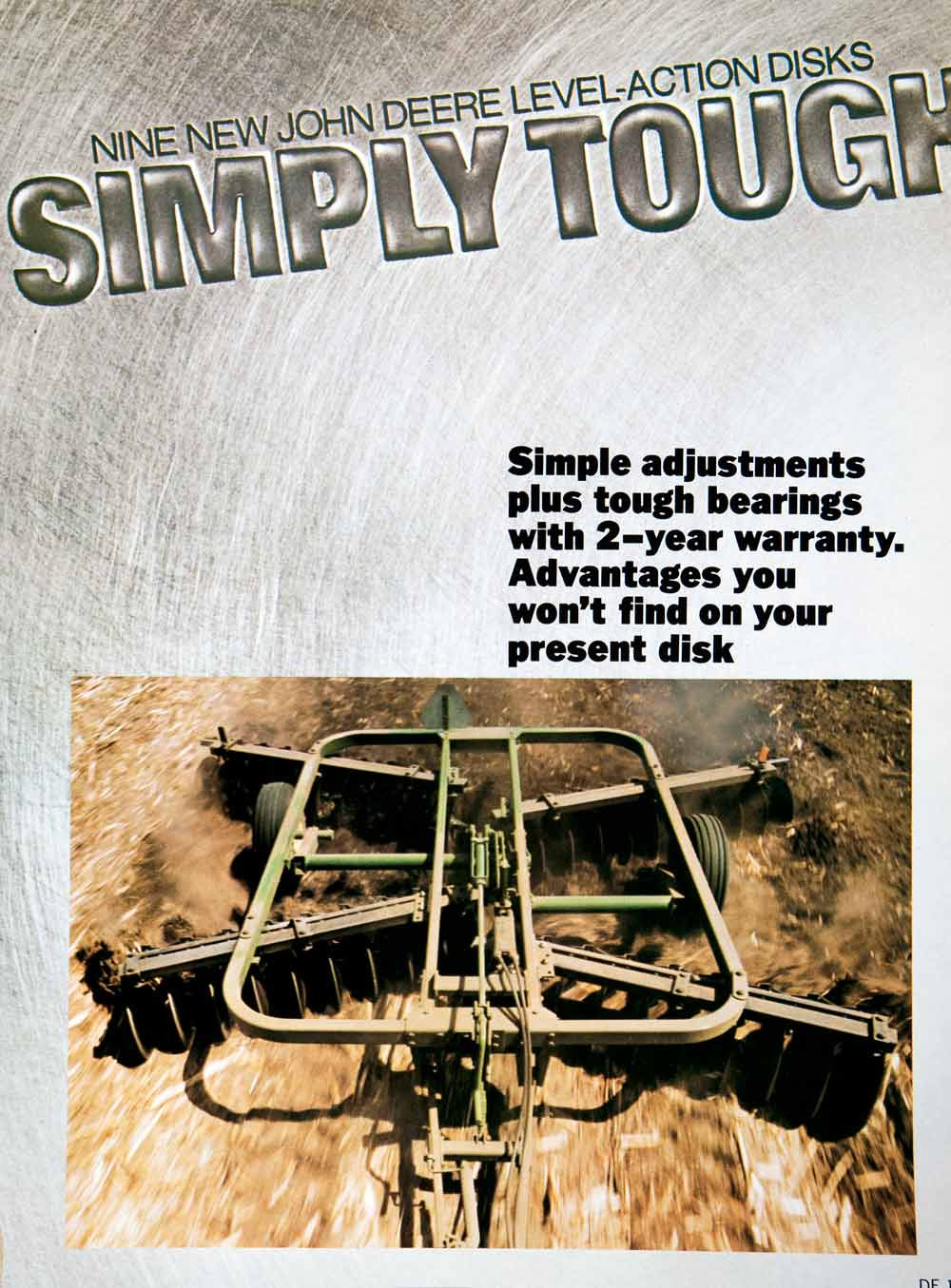 1979 Ad John Deere Level Action Disk Harrows Tractor Attachment Farm SF2