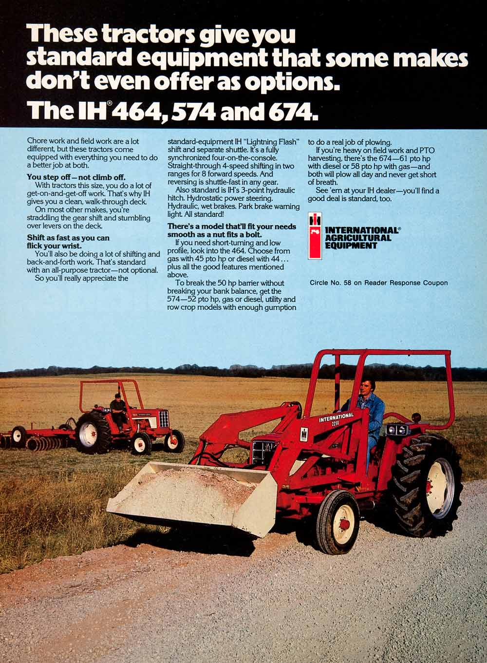 1977 Ad International Harvester Agricultural Equipment Farming Tractor SF3