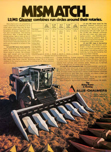 1979 Ad Allis-Chalmers Tattletale Gleaner Combines Rotary Farming Equipment SF3