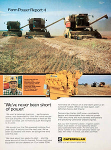 1980 Ad Caterpillar Farm Equipment Machinery Harlan Hoff Ada Minnesota SF3
