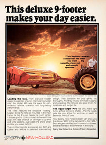 1980 Ad Sperry New Holland Haybine Mower Farming Equipment Machinery SF3