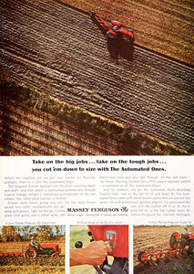 1964 Ad Massey-Ferguson Farm Equipment Machinery Agriculture Automated SF3