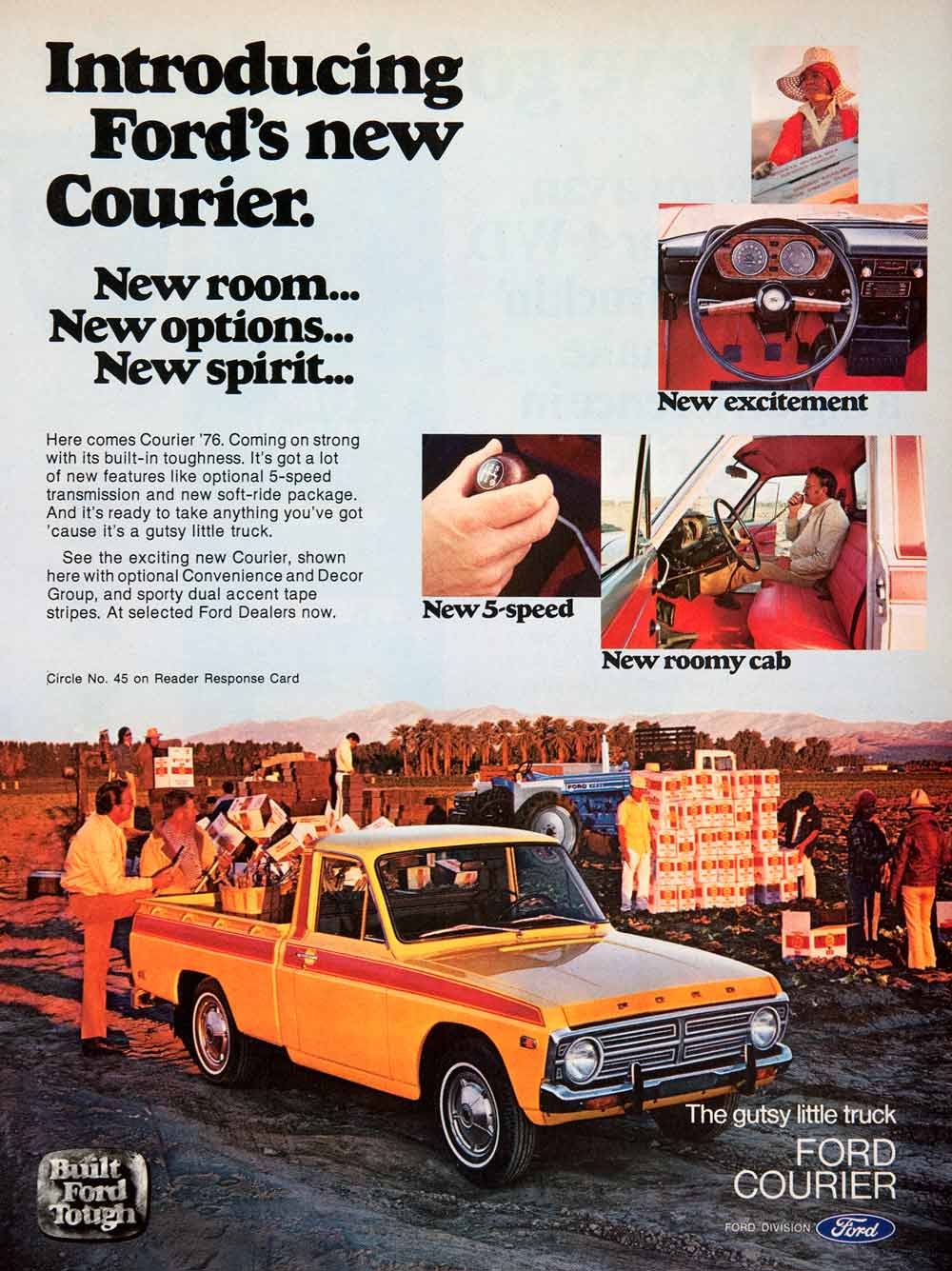 Products Tagged Sf4 Page 2 Period Paper 1976 Chevy Spirit Of 76 Truck Ad Ford Motor Courier Construction Automobile Vehicle Car Pickup
