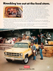 1978 Ad GMC Farming Agriculture Pickup Truck Hay Bale Jennings Feed County SF4