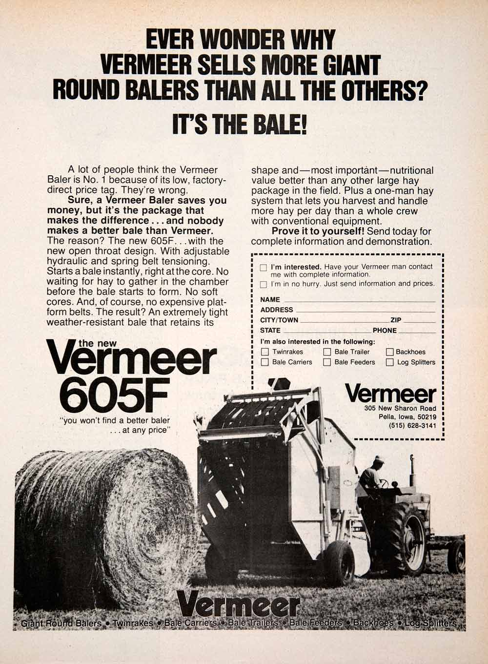 605c vermeer round baler good or bad - 1978 Ad Vermeer Pella Iowa Baler Hay Agriculture Farming Advertisement 605f Sf4