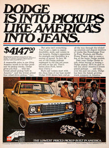 1978 Ad Dodge Pickup Truck Automobile Firefighters Advertisement Dalmation SF4