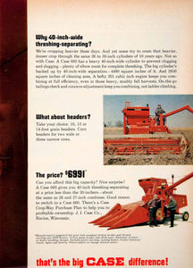 1967 Ad Case 660 Racine Wisconsin Agriculture Farming Crop Harvest SF4