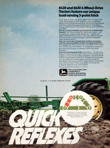 1976 Ad John Deere Tractor Plow 8430 Agriculture Advertisement Engine SF4