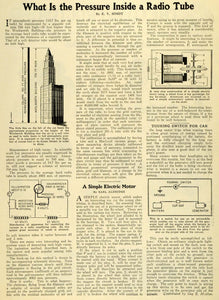 1927 Article Radio Tube Pressure Scientific Diagrams E. V. Simdt Electric SI1