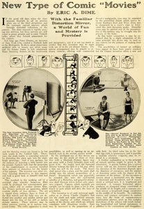 1920 Article Comic Movies Distortion Mirror Motion Picture Film Peter Orance SI1