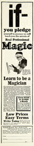 1928 Ad Magician Learn Teach Professional Magic Trick Dr Tarbell Systems SI2