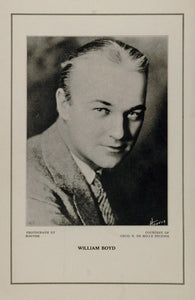 1927 Silent Film Star William Boyd Cecil B. De Mille - ORIGINAL