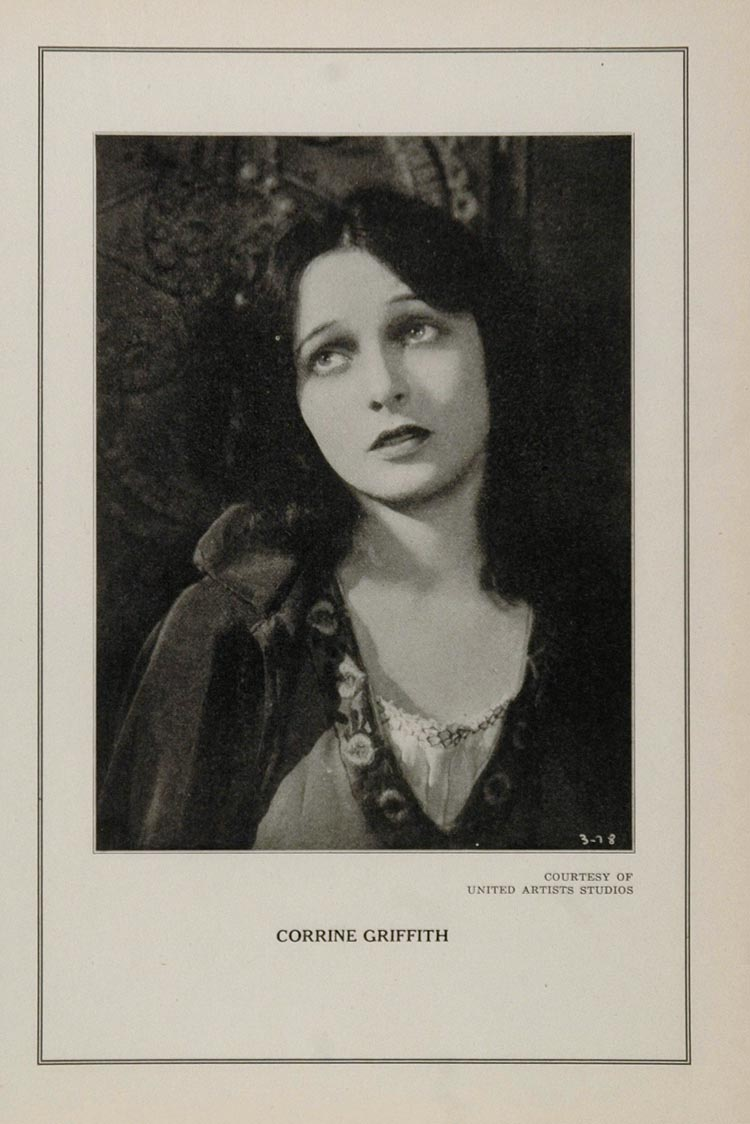 1927 Silent Film Star Corrine Griffith United Artists - ORIGINAL
