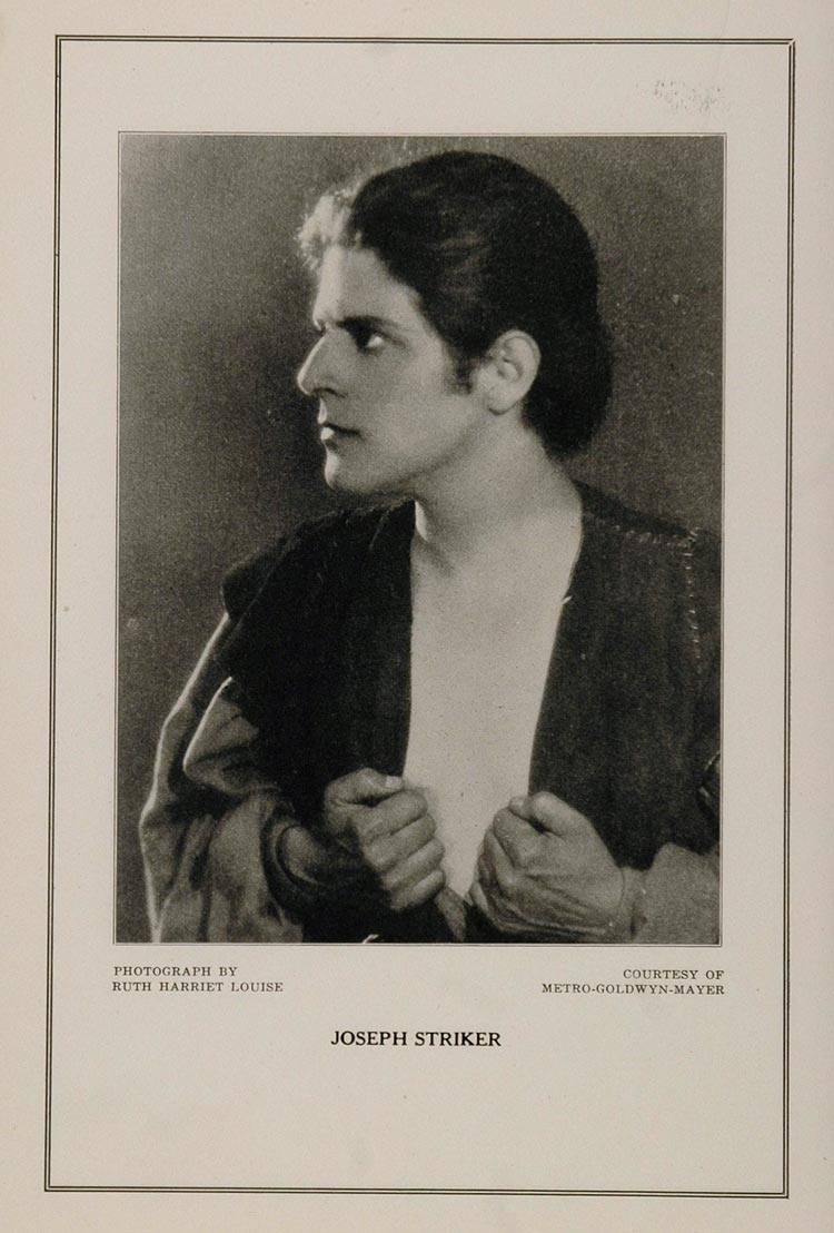 1927 Silent Film Movie Star Joseph Stricker MGM Print - ORIGINAL