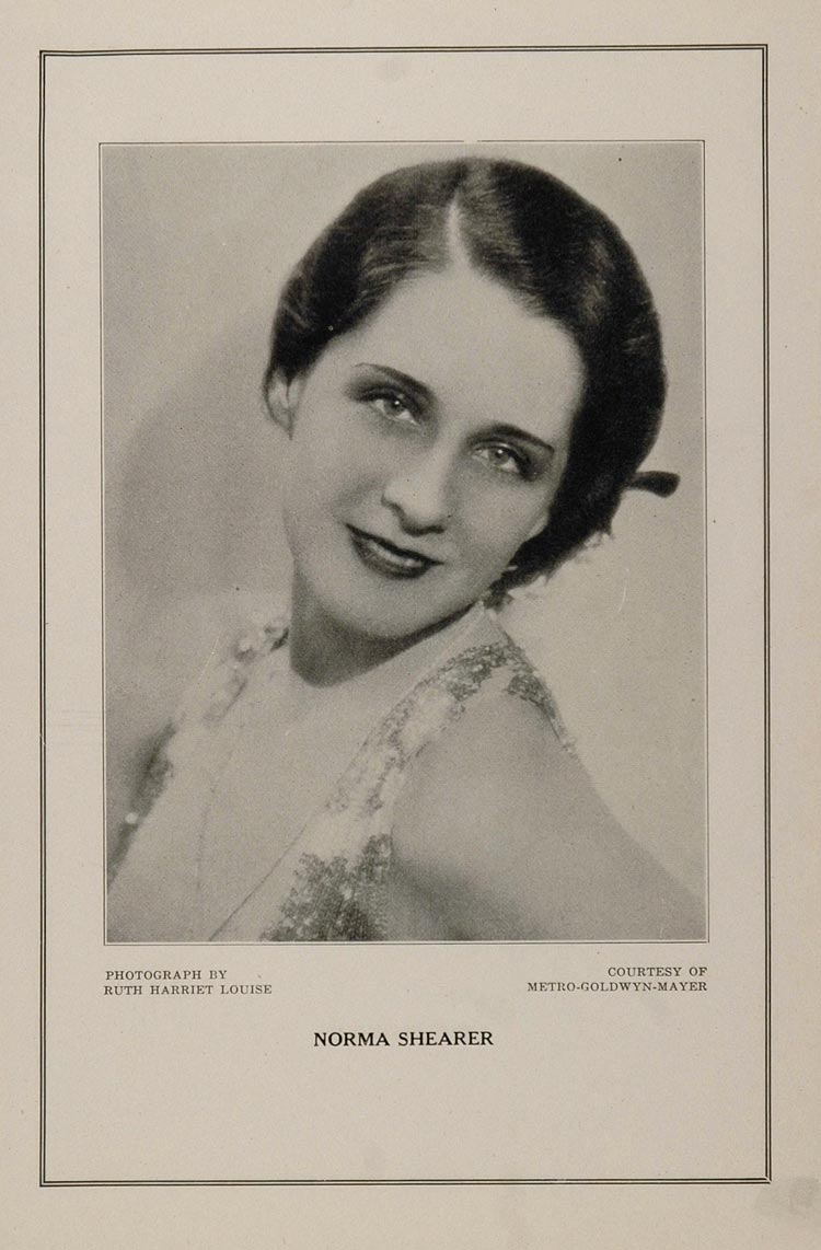 1927 Silent Film Movie Star Norma Shearer MGM Print - ORIGINAL